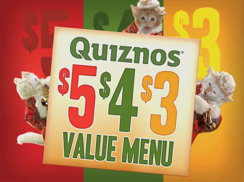 "Quiznos Debuts the ""Singimals"" in New $5, $4, $3 Value Menu National Advertising Campaign.  (PRNewsFoto/Quiznos)"