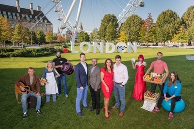 Dragons' Den's Sarah Willingham launches the inaugural Dot London Small Business Awards at Jubilee Gardens, London. Willingham is joined by fellow judges including Apprentice finalist Nick Holzherr (Whisk.com) and Brompton Bikes CFO Lorne Vary to launch the awards that showcase the capital's thriving small business sector, alongside a variety of representatives from small London business. Left to right: Murphy James - (Musician), Liz Wilson - Ma Baker, Dave Burt - At London, Lonre Vary - CFO, Brompton Bicycles Ltd, Sarah Willingham - (Head Judge), Nick Holzherr - Whisk.com, Laura London (Magician), Ben Logie - Healthy Stuff, Yasmin Saadi - The Fitting Rooms (PRNewsFoto/Dot London)