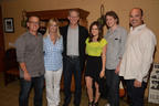Lucy Hale signing photo (from left to right-Chip McLean, SVP, Business Affairs/Development, Disney Music Group;  Cathleen Taff, SVP/GM, Disney Music Group; Ken Bunt, EVP, Disney Music Group; Lucy Hale; Mike Daly, Director, A&R, Disney Music Group; Robbie Snow, Head of Global Marketing, Hollywood Records).  (PRNewsFoto/Hollywood Records)