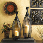 "Malibu Creations new ""Black Slat Candleholders"" are new featured home decor items featured in their Fall 2013 catalog.  (PRNewsFoto/Malibu Creations)"