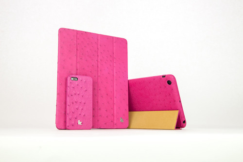 Jison Case's fashion forward series of Ostrich Leather cases fuse luxury with function.  (PRNewsFoto/Jison ...
