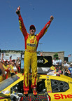 Kurt Busch and the No. 22 Shell-Pennzoil Dodge. (PRNewsFoto/Shell Oil Products US, Harold Hinson)