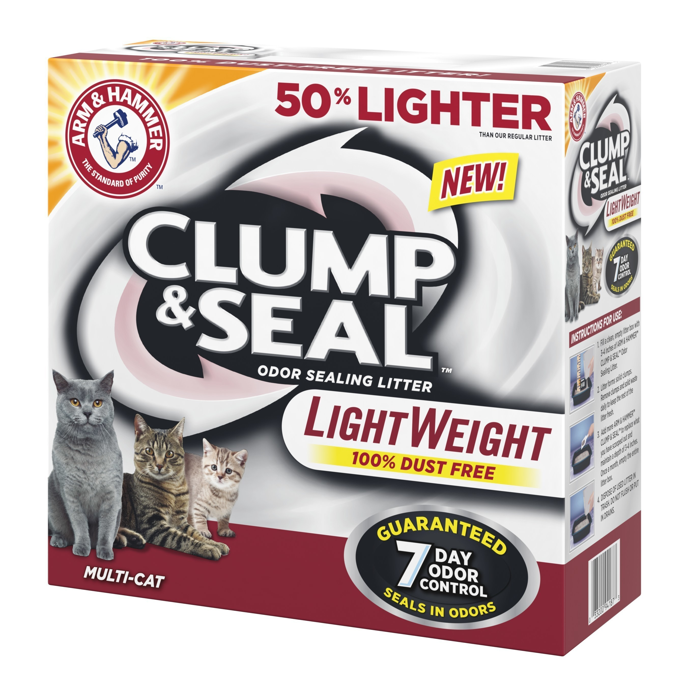 """ARM & HAMMER(TM) launches Clump & Seal(TM) Lightweight Cat Litter aimed to """"Lighten the Day"""" for cat owners"""