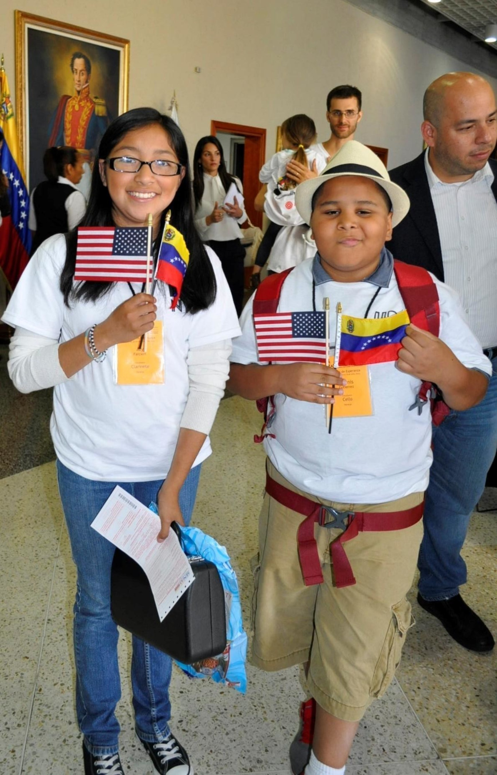 UpBeat NYC students from the South Bronx to attend music classes held by Venezuela's National Orchestra System Simon Bolivar in Caracas, as part of an International Music Education Exchange Program funded in part by CITGO.