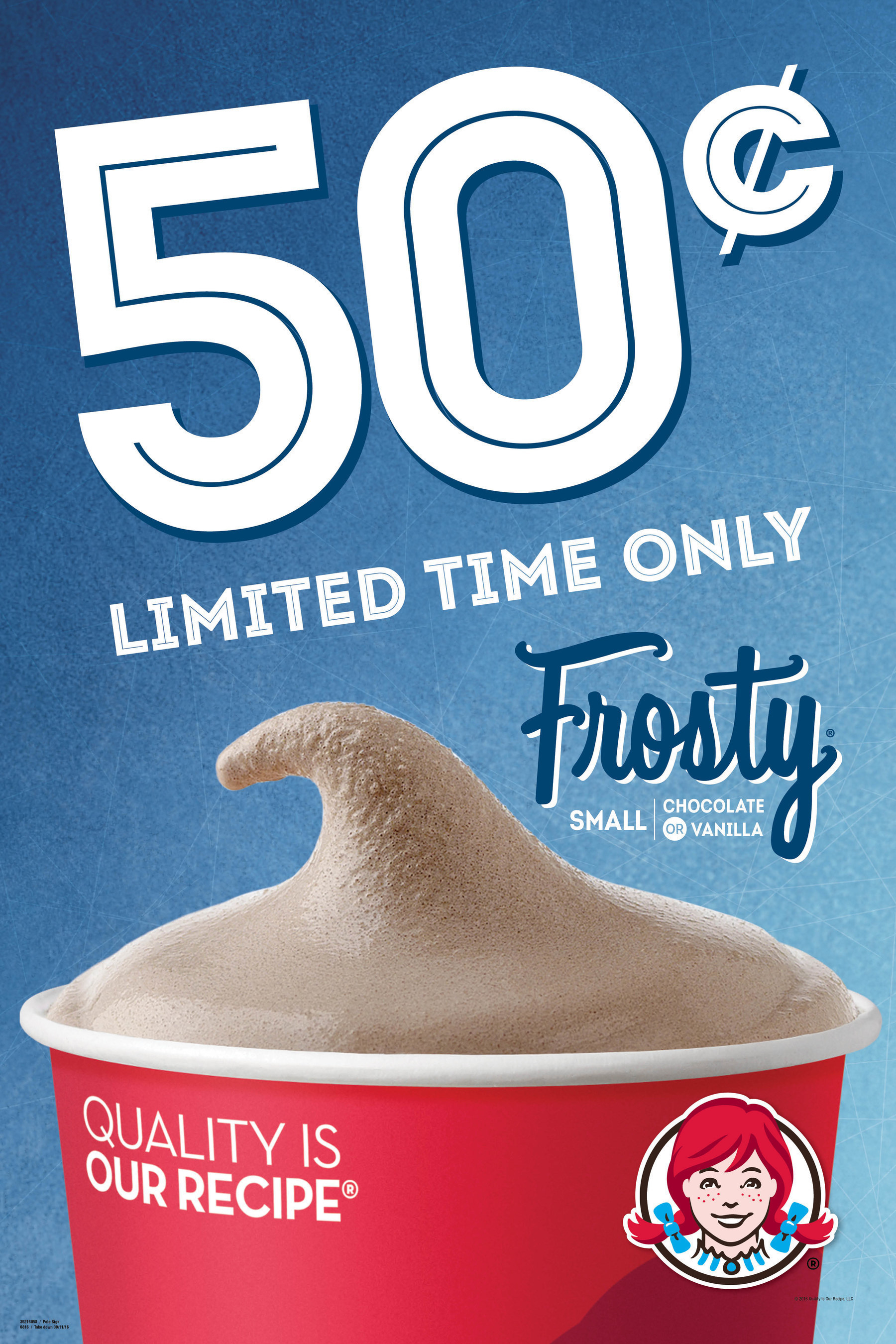 Wendy's is letting fans cool off with a sweet deal this summer. For a limited time only, consumers can head to participating Wendy's to get their hands on a small Frosty for only 50 cents. Made with quality ingredients like real cream and fresh milk, they're the best way to beat the heat during the sweltering summer.