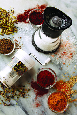 Flavor Up with Contemporary Grinders for Salt, Pepper, Spices and Blends