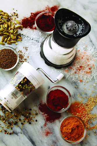 Flavor Up With Contemporary Grinders For Salt Pepper Spices And Blends