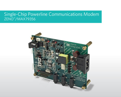 Maxim Integrated's ZENO(TM)/MAX79356 powerline communications (PLC) modem SoC supports all narrowband PLC utility standards.