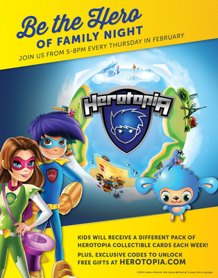 Ryan's, Old Country Buffet and HomeTown Buffet partner with Herotopia.com to offer free and wholesome fun for kids during Thursday Family Night (5 to 8 p.m.) and online on their official websites and Facebook pages. (PRNewsFoto/Ovation Brands) (PRNewsFoto/OVATION BRANDS)