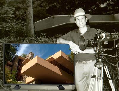 Emmy Award Winner Ken Love with Rembrandt AS3D TV. (PRNewsFoto/Rembrandt 3D) (PRNewsFoto/REMBRANDT 3D)