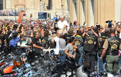 Pope Francis blesses Harley-Davidson Motorcycles