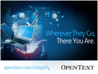 Unveiling OpenText Web Experience Management: Engage Your WEB Traffic.  (PRNewsFoto/OpenText Corporation)