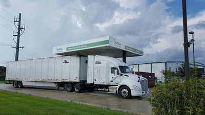 TruStar Energy's new Lafayette, LA compressed natural gas fueling station.