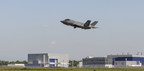 The first F-35A for the Italian Air Force, and the first F-35 built at the Cameri FACO, takes to the skies over Italy, Sept. 7, making the first F-35 Lightning II outside the United States. Lockheed Martin photo by: Todd McQueen