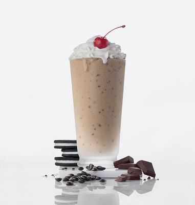 Chick-fil-A's NEW Mocha Cookies & Cream Milkshake.  (PRNewsFoto/Chick-fil-A)