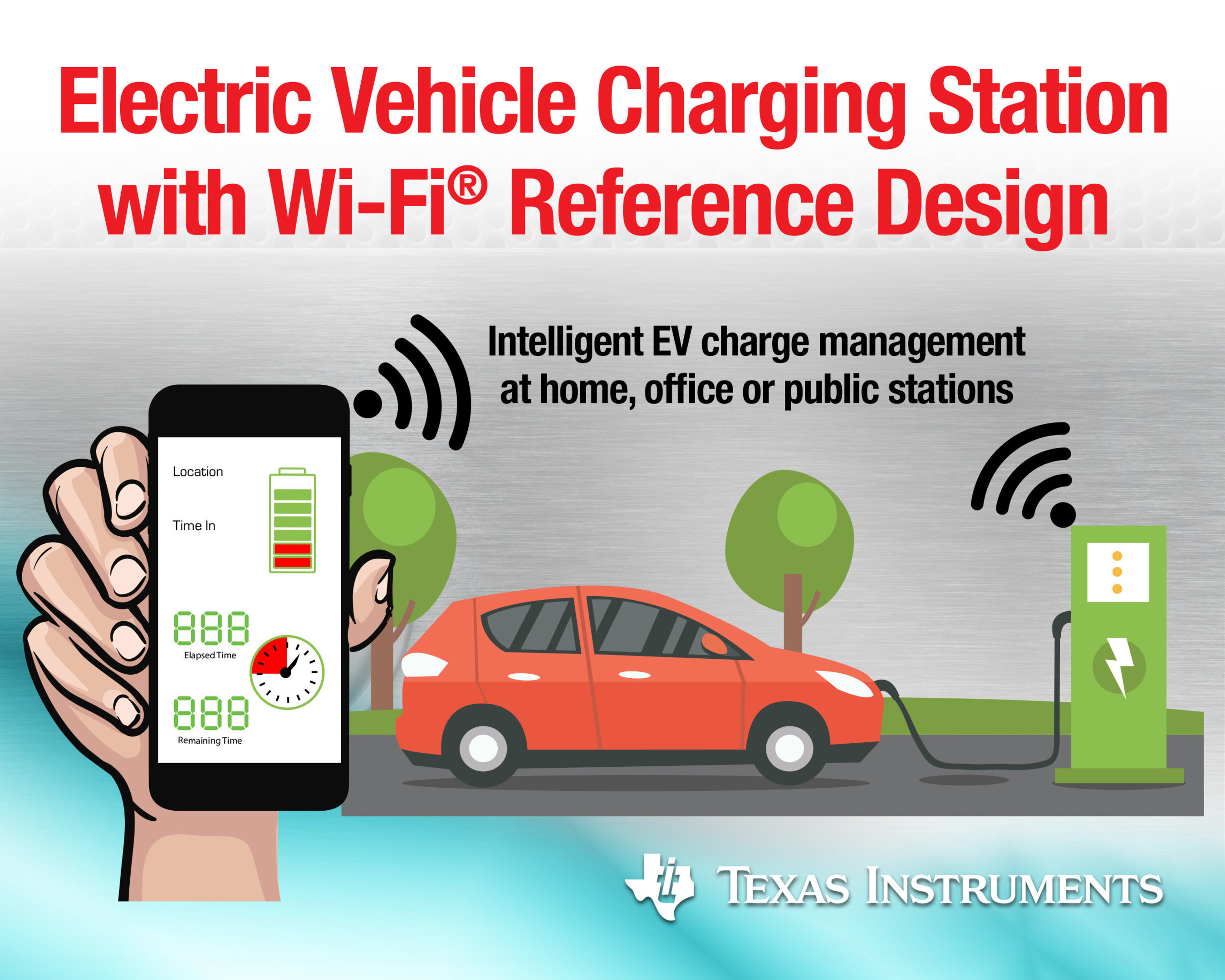 Texas Instruments adds Wi-Fi capability to EV charging stations with new reference design.