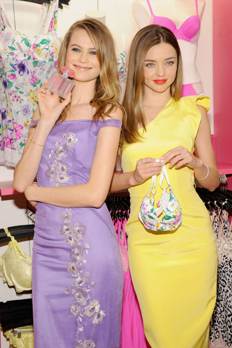 Supermodels Miranda Kerr and Behati Prinsloo Celebrate the New Fabulous by Victoria's Secret Collection.  ...