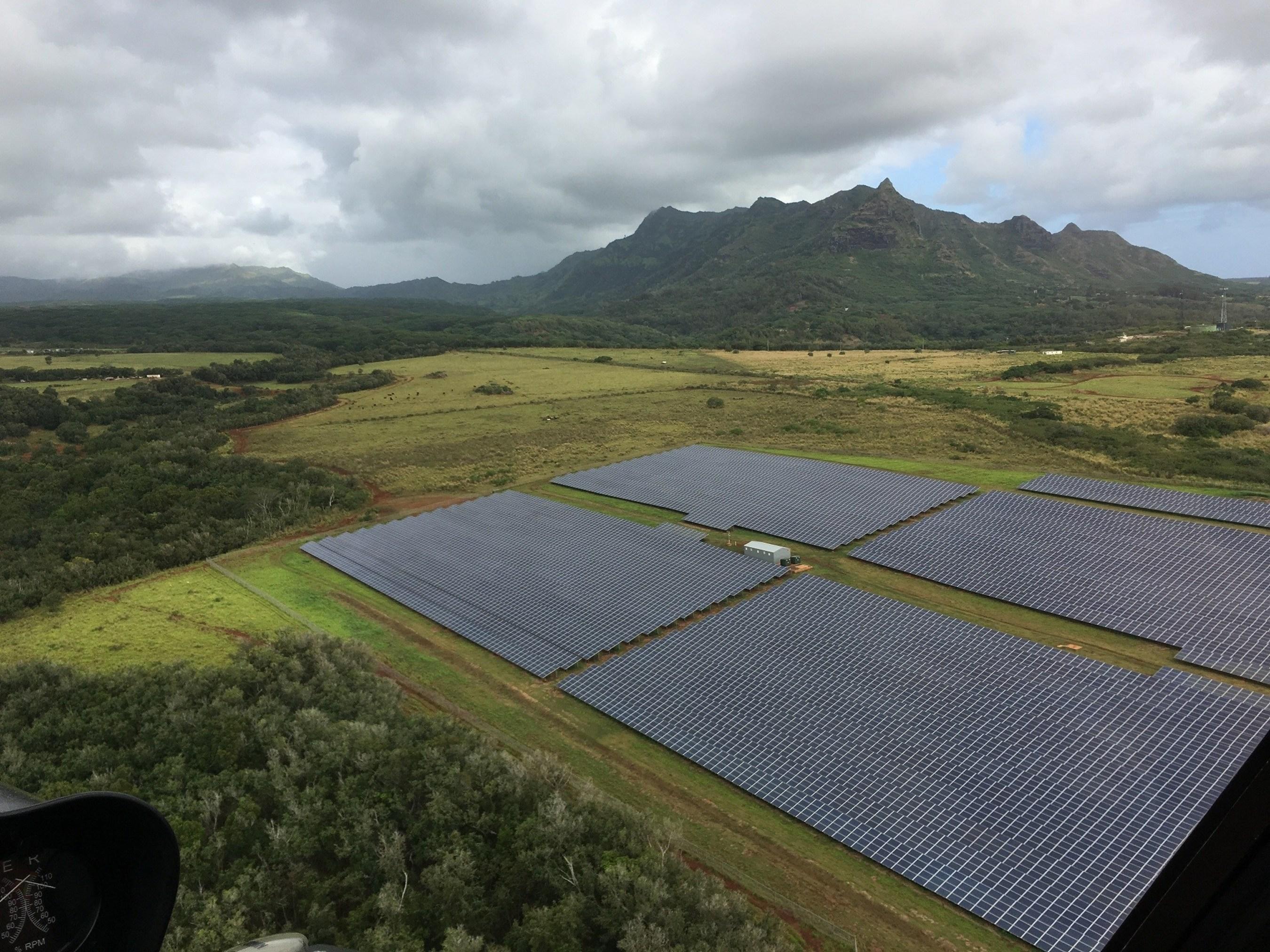 Anahola solar array on Kauai Island, featuring ABB technology in the Battery Energy Storage System