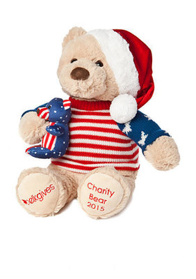 The second annual Belkie Charity Bear, designed by an 11-year-old from South Carolina, was unveiled today at Belk's SantaFest. Photo provided by Belk.