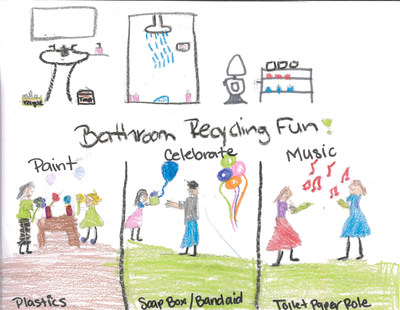 Johnson & Johnson Consumer Inc.'s Care to Recycle Program and Scholastic Announce Winners of National Recycling Contest: PETE's Bathroom Bin Challenge
