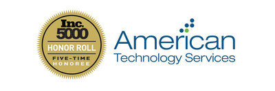 ATS ranked on the 2014 Inc. 5000 Honor Roll (PRNewsFoto/American Tech. Services, Inc.)