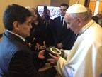Hublot Thanks Maradona for Having Chosen to Offer Pope Francis a Hublot Big Bang Unico Timepiece