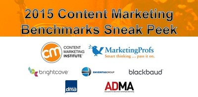2015 Content Marketing Benchmarks, Budgets & Trends Sneak Peek - revealed at Content Marketing World 2014 in Cleveland, Ohio today (PRNewsFoto/Content Marketing Institute)
