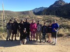 Wounded veterans and their families enjoyed hiking in Tuscon.