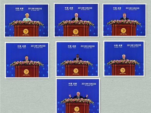 Seven important foreign government officials attended the 14th WCIF. (PRNewsFoto/Sichuan Bureau of Expo ...