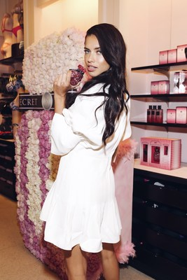 Victoria's Secret Angel, Adriana Lima celebrates the brand's most iconic scent, Victoria's Secret Bombshell.