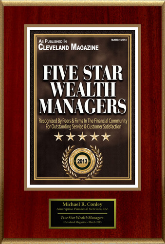 "Michael R. Conley Selected For ""Five Star Wealth Managers.""  (PRNewsFoto/American Registry)"