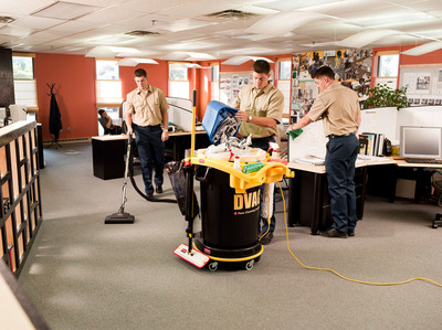 RCP Cleaning System Combines Tasks into a Single Mobile Unit to Boost Productivity, Reduce Labor Costs.  (PRNewsFoto/Newell Rubbermaid)