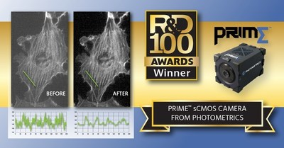 Photometrics Prime sCMOS Camera Named R&D 100 Awards Winner
