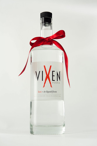"Vixen Vodka was created by empowered women for empowered women. Touting the tagline ""lust in liquid form,"" Vixen Vodka is gluten free and elegantly crafted in Colorado from corn and pure spring water, then distilled five times in one of only a few glass stills in the world.  (PRNewsFoto/Vixen Vodka)"