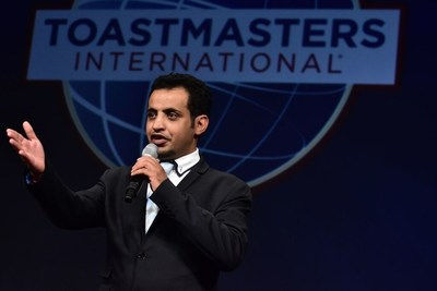 Mohammed Qahtani, a security engineer from Saudi Arabia, won the Toastmasters international speech contest in 2015.