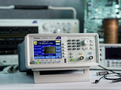 Compared to stand alone AFGs in its price class, the Tektronix AFG1022 offers better performance and greater flexibility. Key performance specifications include dual-channel, 25MHz bandwidth with 1mVpp to 10Vpp output, 14-bit vertical resolution and 1?Hz frequency resolution. It provides a 125 MS/s sample rate along with 64 MB of built-in non-volatile memory and USB memory expansion for user-defined waveforms.