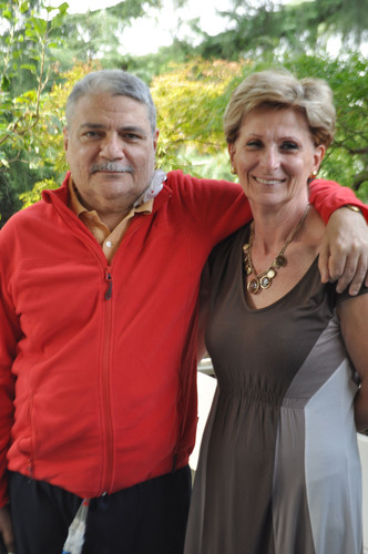 On Sept. 7, 2012, Marco Fumagalli became the first SynCardia Total Artificial Heart patient to be discharged from San Raffaele Hospital in Milan, Italy, using the Freedom(R) portable driver. He is pictured with his wife Rosalena Carenzi.  (PRNewsFoto/SynCardia Systems, Inc.)