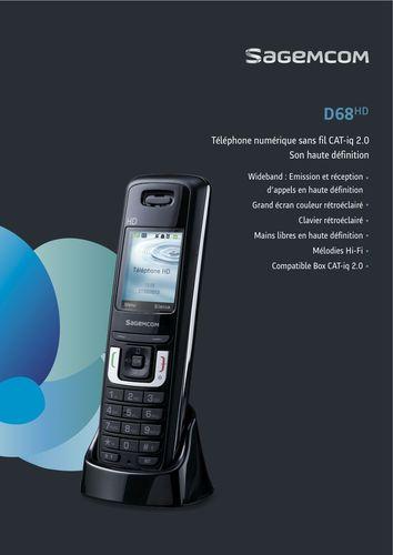DECT Sagemcom D68 (PRNewsFoto/Sagemcom)