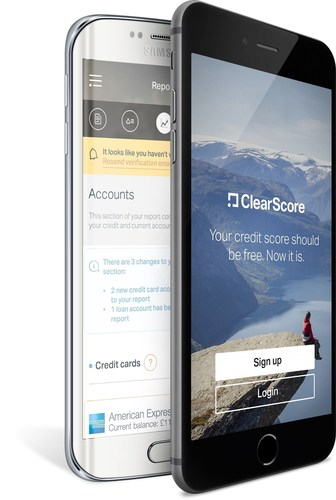 ClearScore has launched its new app, giving everyone free access to their credit report and score. Available now on iOS and Android. (PRNewsFoto/Clearscore) (PRNewsFoto/Clearscore)