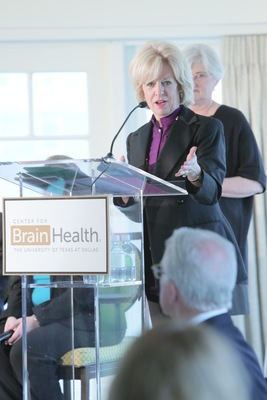 Dr. Sandra Bond Chapman, Center for BrainHealth's founder and chief director closes the inaugural Brain Health Summit in Washington, D.C. (PRNewsFoto/Center for BrainHealth)