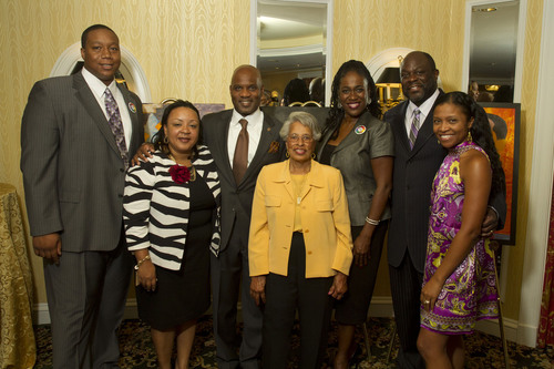 Lamell McMorris gathers with the leaders of several Washington, DC Youth Nonprofit Organizations.  ...
