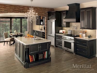 Door Style: Bayville Wood Type: Maple Color: Dusk.  (PRNewsFoto/Merillat Cabinetry)