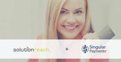 Solutionreach and Singular Payments have partnered to give healthcare practices a more affordable, more convenient option for  in-office credit card processing for patient payments. Learn more are www.solutionreach.com/SERVICES/singular-payments.