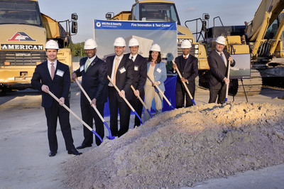 UTC Fire & Security executives and Florida officials break ground on the company's new Fire Innovation & Test Center in Florida.  (PRNewsFoto/UTC Fire & Security, Steven Kaeter)