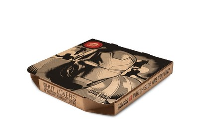 """As part of its new partnership with Marvel's """"Captain America: Civil War"""" Pizza Hut reveals set of Captain America & Iron Man pizza boxes, all-new Stuffed Garlic Knots $5 Flavor Menu item, and first-ever post-online ordering entertainment platform at www.PizzaHut.com/CaptainAmerica."""