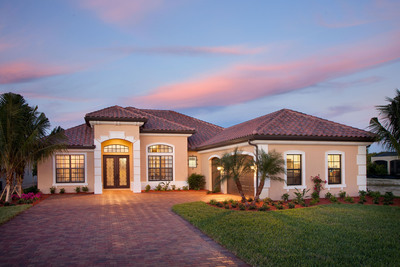 Lennar, Southwest Florida's #1 homebuilder wins big at Parade of Homes. Pictured is the Bouganvillea model, located in Runaway Bay at Fiddler's Creek in Naples, which won for homes $700-$799,000.00.  (PRNewsFoto/Lennar)