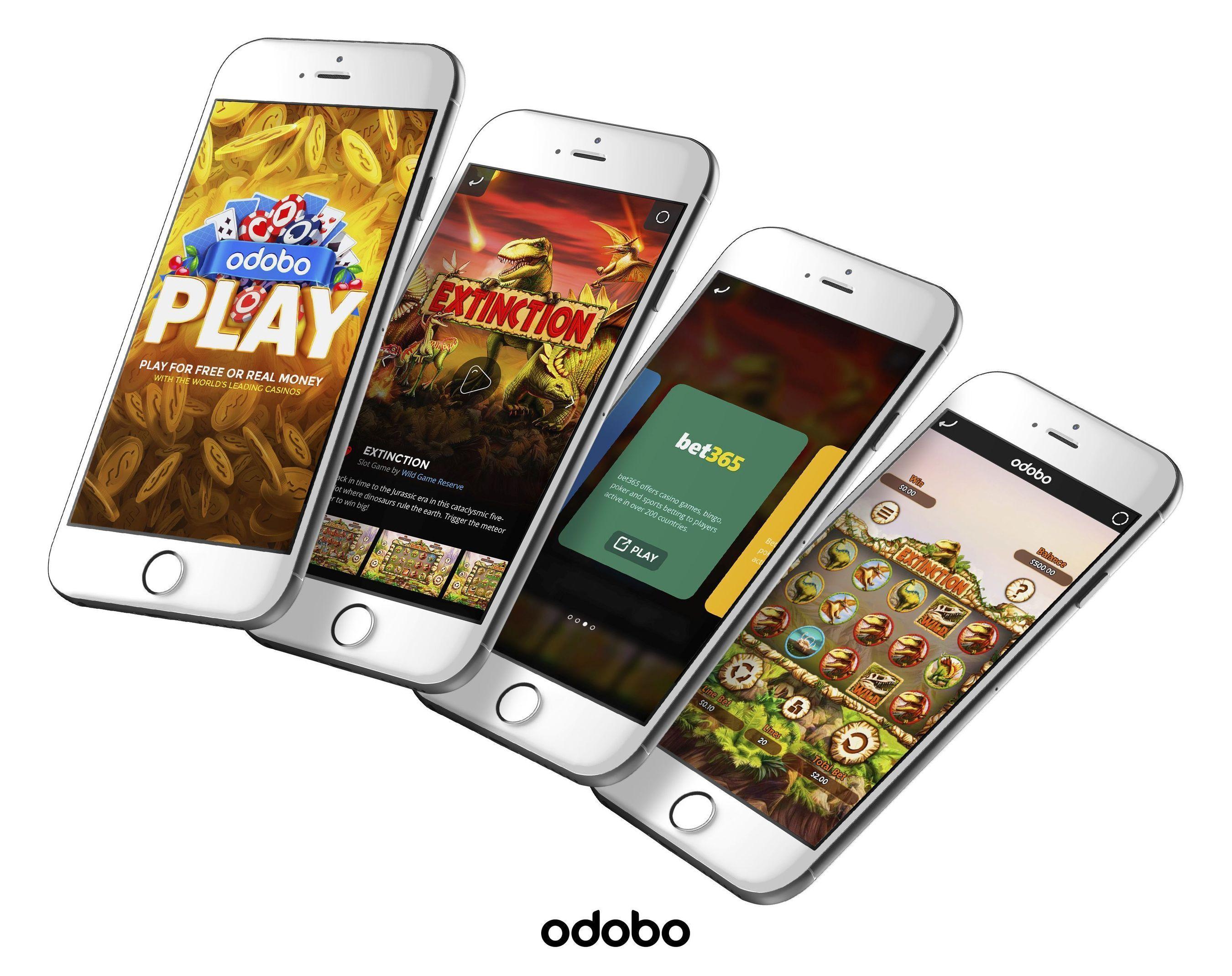 Discover real casino games with the Odobo Play iOS app (PRNewsFoto/Odobo)