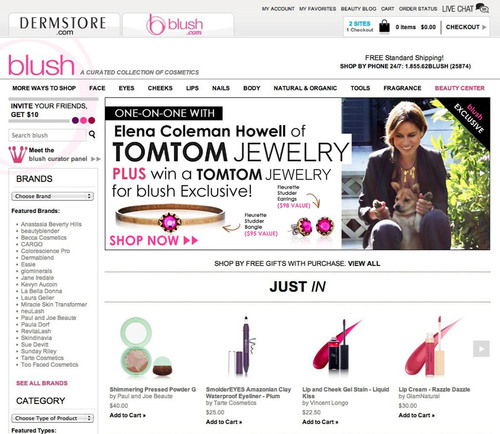 Blush.com Partners with TOMTOM Jewelry