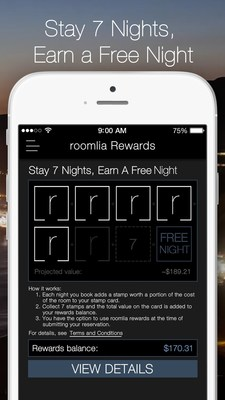 roomlia(R) Rewards - The Fastest Way To Earn A Free Night!
