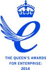 Queen's Award Emblem 2014 (PRNewsFoto/Linguamatics)